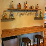 Bar and floating shelves